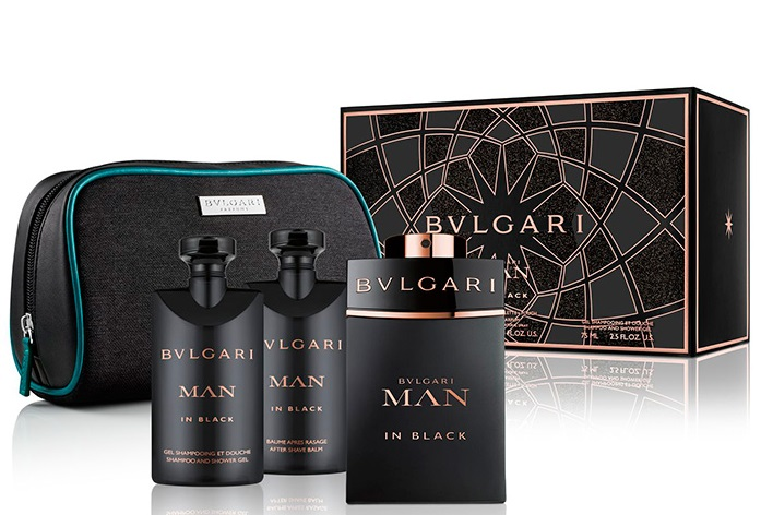 BVLGARI MAN IN BLACK EDP 100 ML + GEL 75 ML + A/S BALM 75 ML + NECESER SET