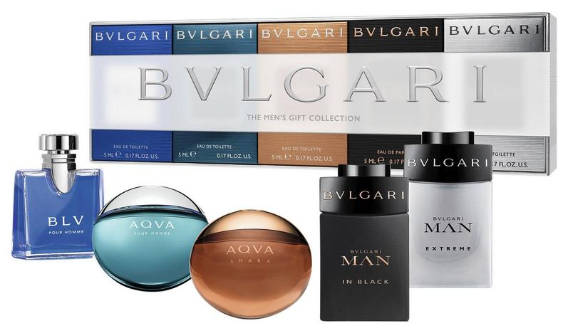 BVLGARI MEN MINIATURAS X 5 SET REGALO