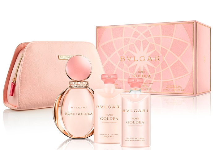 BVLGARI GOLDEA ROSE EDP 90 ML + B/L 75 ML + GEL 75 ML + NECESER SET