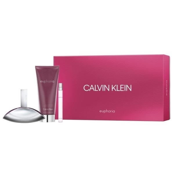 CK EUPHORIA WOMAN EDP 100 ML + B/L 200 ML + MINI 10 ML SET REGALO