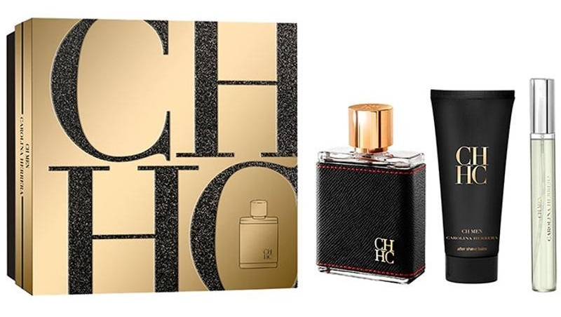CAROLINA HERRERA CH MEN EDT 100 ML + EDT 10 ML + AFTER SHAVE 100 ML SET REGALO