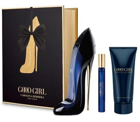 CAROLINA HERRERA CH GOOD GIRL EDP 80 ML + BODY LOTION 100 ML + MINIATURA  EDP 10 ML SET REGALO