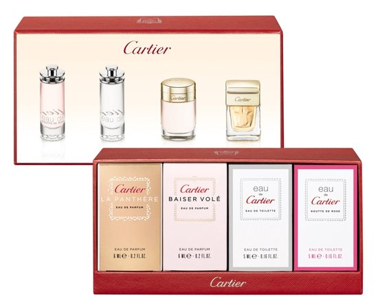 CARTIER MINI FEMININE X 4 SET REGALO