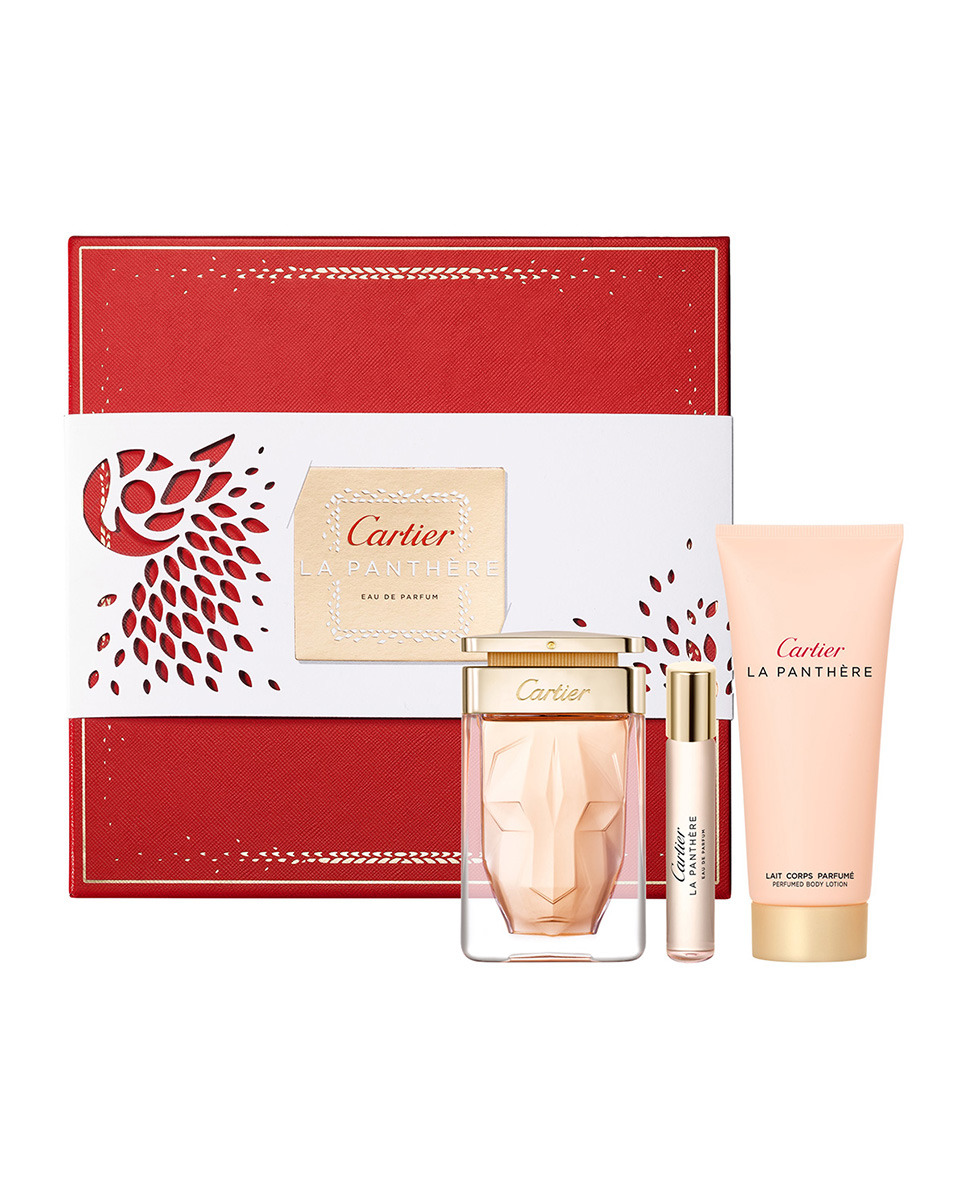 CARTIER LA PANTHERE EDP 75 ML + BODY LOCION 100 ML + 9 ML SET REGALO