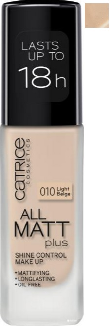 CATRICE ALL MATT PLUS MAQUILLAJE CONTROL BRILLOS 010 LIGHT BEIGE 30ML