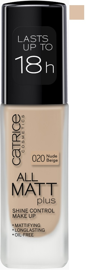 CATRICE ALL MATT PLUS MAQUILLAJE CONTROL BRILLOS 020 NUDE BEIGE 30ML