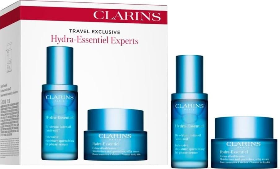 CLARINS HYDRA ESSENTIEL  CREME DESALTERANTE 50ML + BI-SERUM INTENSIF 30ML SET REGALO