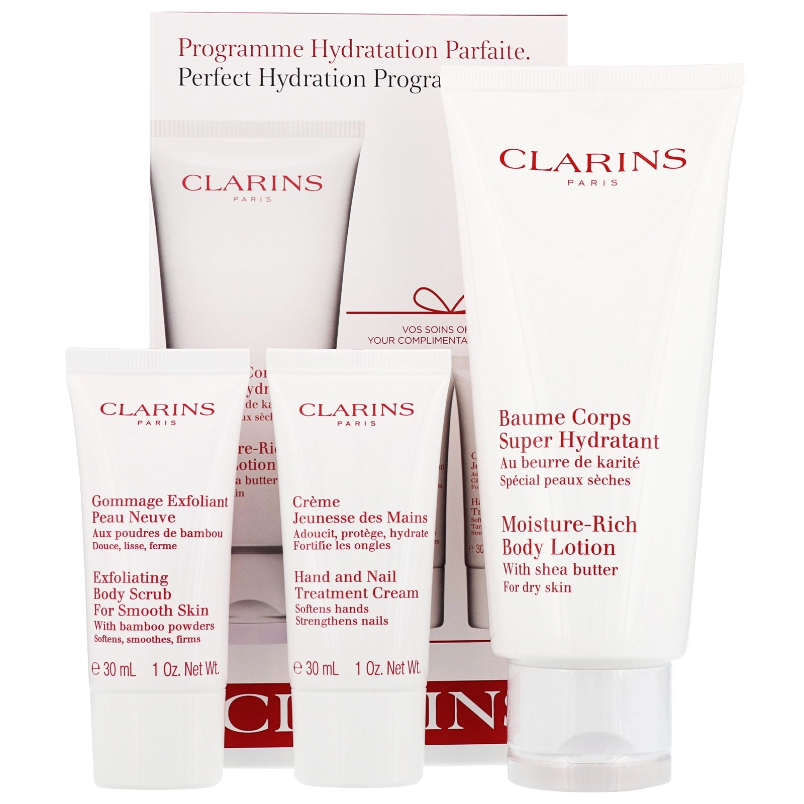 CLARINS SOS CORPS HYDRATATION ( B/LOTION 200 ML + CR. DE PIES 30 ML + CR. MANOS 30 ML) SET