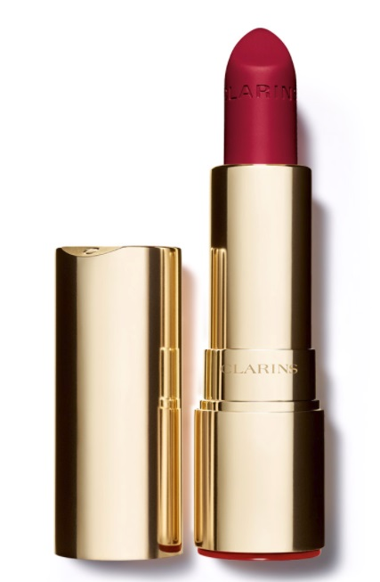 CLARINS JOLI ROUGE VELVET BARRA DE LABIOS MATE COLOR 754 DEEP RED