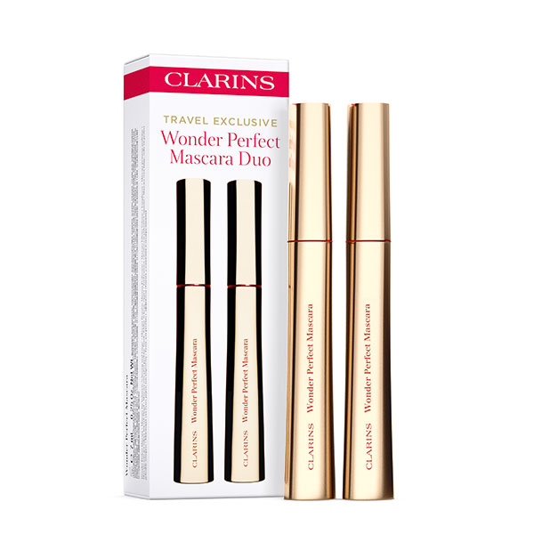 CLARINS WONDER PERFECT MASCARA COLOR 01 BLACK 6.5 ML x 2 SET DUO