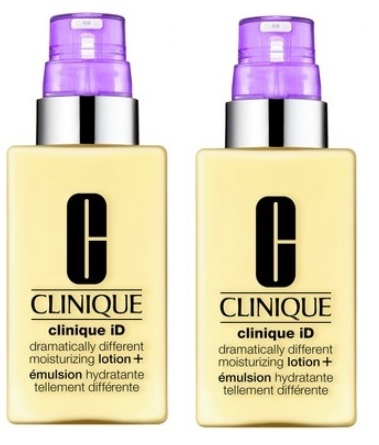 CLINIQUE ID DRAMATICALLY DIFFERENT MOISTURIZING LOTION 115ML X 2+ ACTIVE CONCENTRATE LINES & WRINKLES 10ML X 2