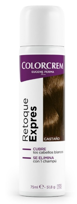 COLORCREM RETOQUE EXPRESS RAICES CASTAÑO SPRAY 75ML