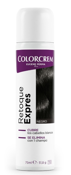 COLORCREM RETOQUE EXPRESS RAICES NEGRO SPRAY 75ML