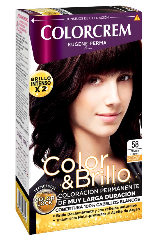 COLORCREM COLOR & BRILLO TINTE CAPILAR 58 CAOBA OSCURO