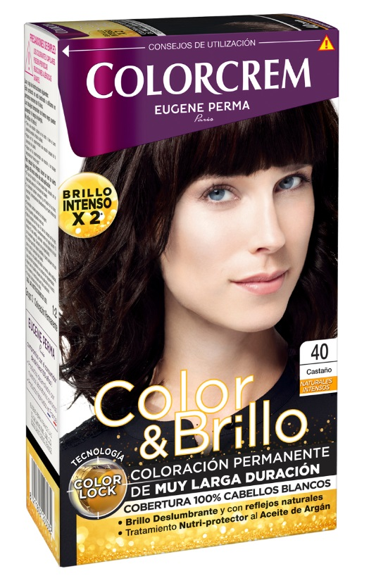 COLORCREM COLOR & BRILLO TINTE CAPILAR 40 CASTAÑO