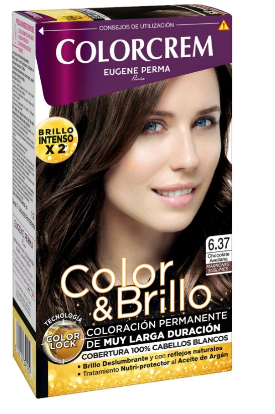 COLORCREM COLOR & BRILLO TINTE CAPILAR 6.37 CHOCOLATE AVELLANA