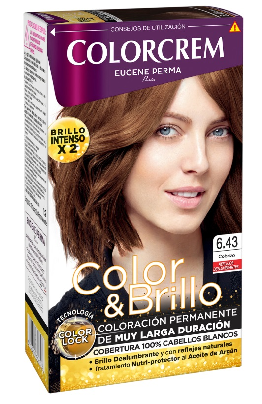 COLORCREM COLOR & BRILLO TINTE CAPILAR 6.43 COBRIZO