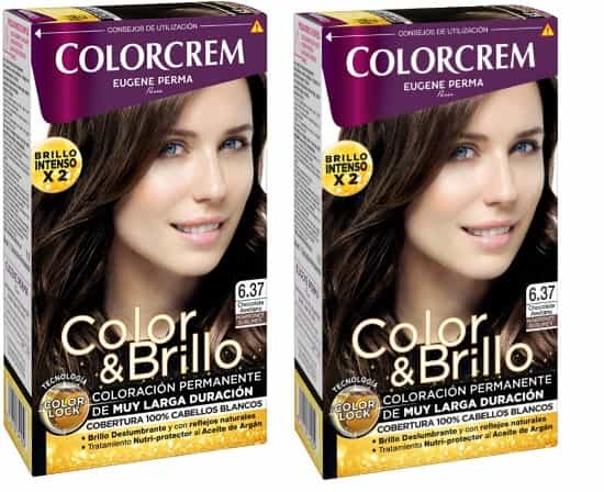 COLORCREM COLOR & BRILLO TINTE CAPILAR 6.37 CHOCOLATE AVELLANA x 2 UDS