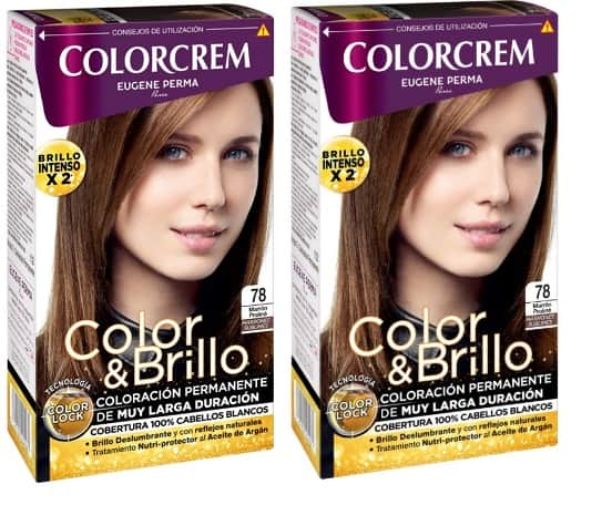 COLORCREM COLOR & BRILLO TINTE CAPILAR 78 MARRON PRALINE x 2 UDS