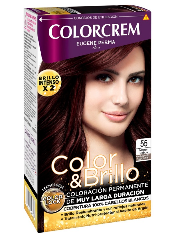 COLORCREM COLOR & BRILLO TINTE CAPILAR 55 MARRON CAOBA