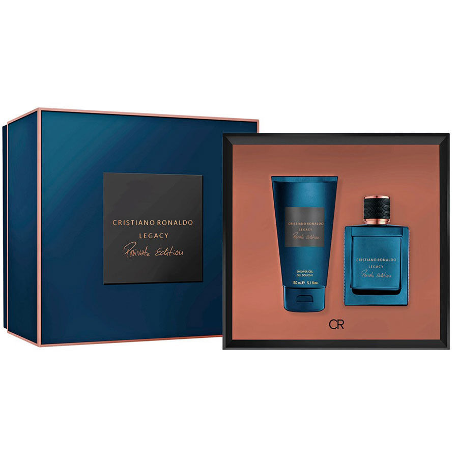 CRISTIANO RONALDO LEGACY PRIVATE EDITION EDP 50 ML + S/GEL 150 ML SET REGALO