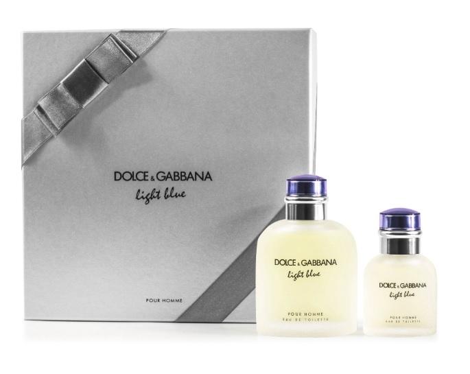 DOLCE & GABBANA LIGHT BLUE POUR HOMME EDT VAPO 125 ML + EDT 40ML VAPO SET REGALO