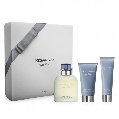 DOLCE & GABBANA LIGHT BLUE POUR HOMME EDT 125 ML + A/S BALM 75 ML +S/GEL 50 ML SET REGALO