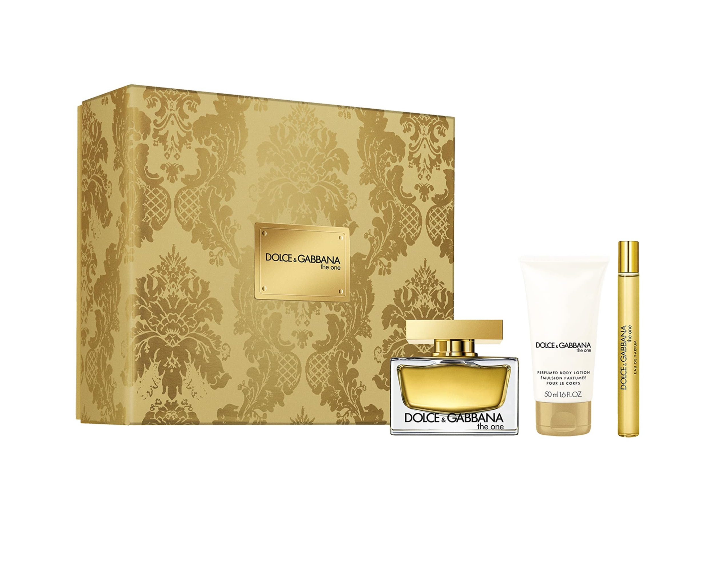 DOLCE & GABBANA THE ONE EDP 75 ML + MINI 10 ML + BODY LOTION 50 ML SET REGALO