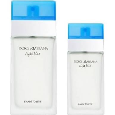 DOLCE & GABBANA LIGHT BLUE EDT 100 ML + EDT 25 ML SET REGALO