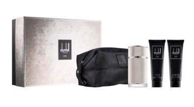 DUNHILL ICON EDP 100 ML + GEL BAÑO 90ML + AFTER SHAVE 90ML + NECESER