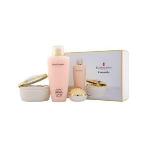 ELISABETH ARDEN CERAMIDE GOLD CAPS 60 CARA & GARGANTA 28ML + PULPA OJOS PERFECTOS 15ML + TONER PURIFICADOR 200ML SET