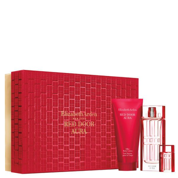 ELIZABETH ARDEN RED DOOR AURA EDT 100 ML + B/L 100 ML + MINI SET REGALO