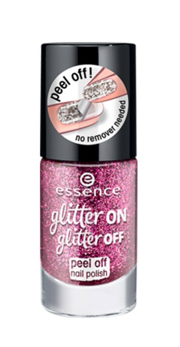 ESSENCE ESMALTE PEEL OF GLITTER ON GLITTER OFF 03 PARTY QUEEN