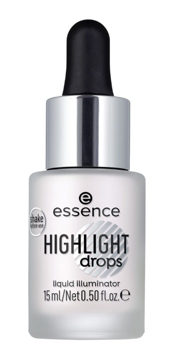 ESSENCE HIGHLIGHT DROPS LIQUID ILLUMINATOR 10 SILVER LINING 15ML