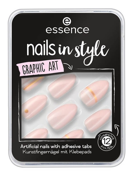 ESSENCE UÑAS POSTIZAS NAILS IN STYLE 09 GRAPHIC ART