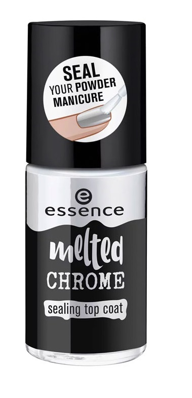 ESSENCE TOP COAT MELTED CHROME