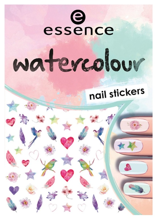 ESSENCE NAIL ART STICKERS PARA UÑAS WATERCOLOUR 07