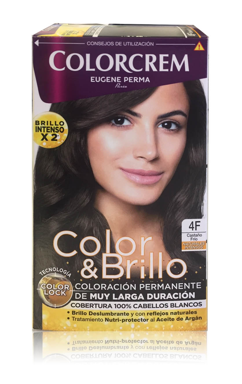 COLORCREM COLOR & BRILLO TINTE CAPILAR 4F CASTAÑO FRIO