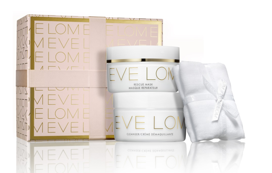 EVE LOM RESCUE RITUAL(CLEANSER, RESCUE MASK, MUSLIN CLOTH) SET REGALO