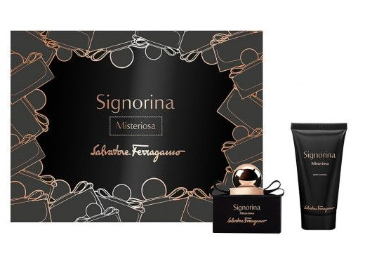 SALVATORE FERRAGAMO SIGNORINA MISTERIOSA EDP 30 ML + BODY LOCION 50ML SET REGALO