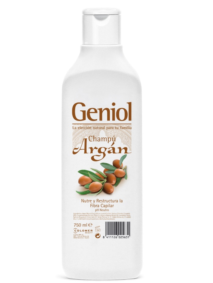 GENIOL CHAMPÚ ARGÁN 750ML