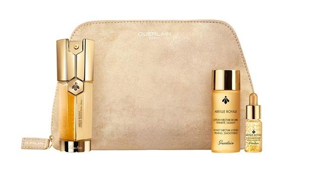 GUERLAIN ABEILLE ROYALE DOUBLE RENEW & REPAIR SERUM 30 ML + 2 PIEZAS SET REGALO