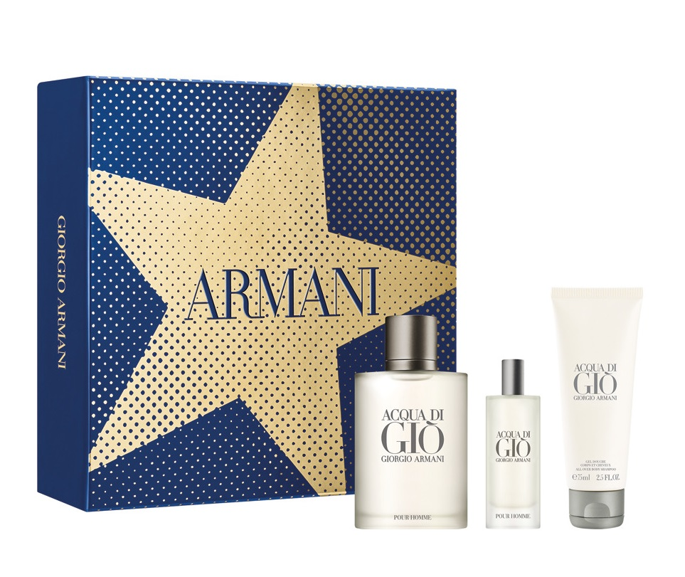ARMANI ACQUA DI GIO EDT 100 ML + EDT 15 ML + GEL 75 ML  SET REGALO