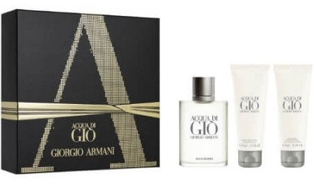 ARMANI ACQUA DI GIO  EDT 100 ML + GEL 75 ML + AFTER SHAVE BALSAMO 75 ML SET REGALO