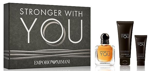 ARMANI STRONGER WHIT YOU SET Eau de Toilette 50ML + Shower Gel 75ML+ Bodylotion 75ML
