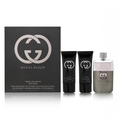 GUCCI GUILTY POUR HOMME EDT 90 ML + A/S 50 + GEL 50 ML TRAVEL SET