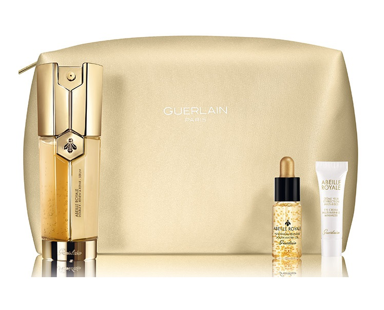 GUERLAIN ABEILLE ROYALE DOUBLE RENEW & REPAIR SERUM 30 ML + 2 PRODUCTOS + NECESER SET REGALO