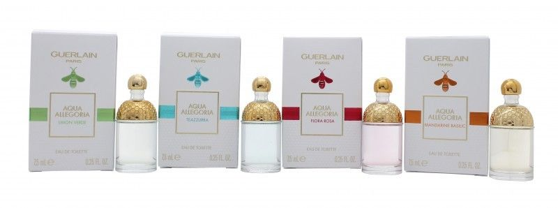 GUERLAIN LA COLLECTION AQUA ALLEGORIA SET 7,5 ML X 4 UDS MINIATURAS SET