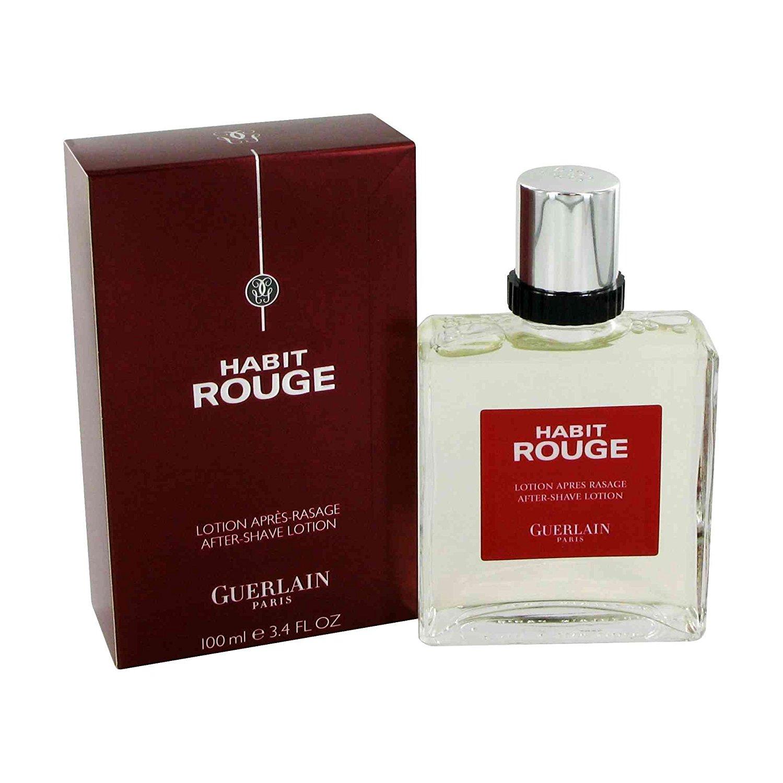 guerlain habit rouge loci n after shave 100 ml. Black Bedroom Furniture Sets. Home Design Ideas