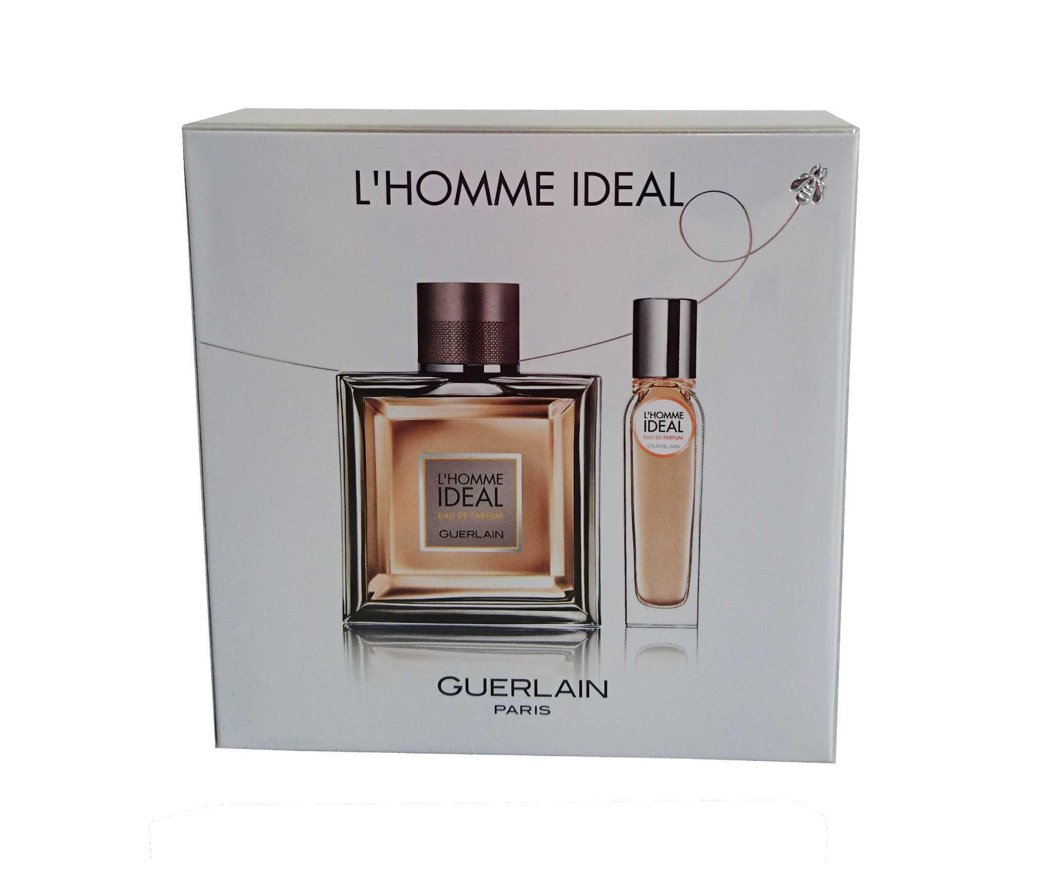 guerlain l 39 homme ideal eau de parfum 100 ml eau de parfum 15 ml travel set. Black Bedroom Furniture Sets. Home Design Ideas